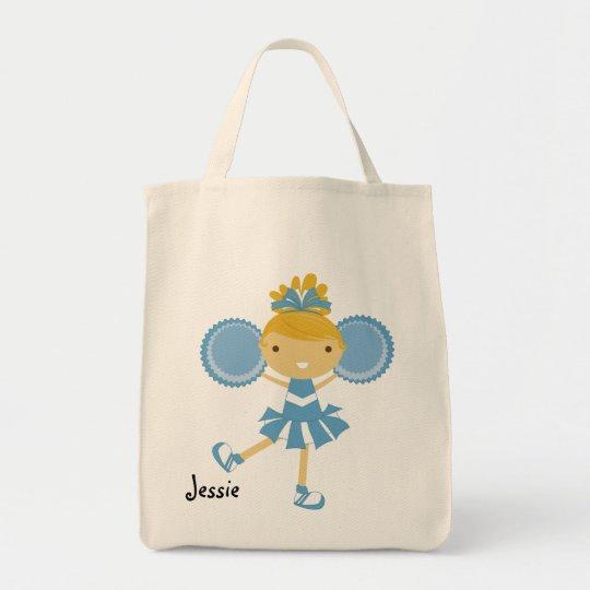 KRW Blue Cheerleader Custom Party Tote Bag