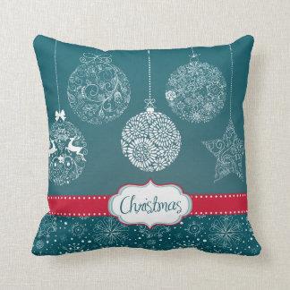 KRW Blue Christmas Ornament Pillow