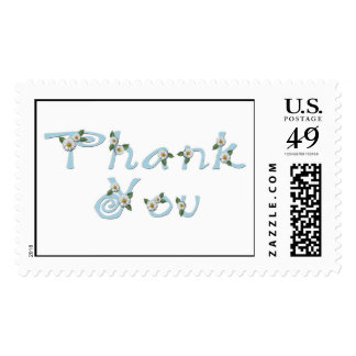 KRW Blue Daisy Thank You Stamp