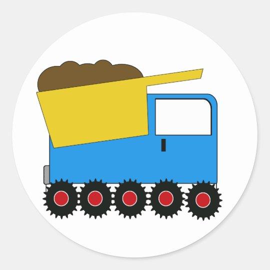 KRW Blue Dump Truck Sticker