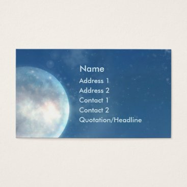 Professional Business KRW Blue Moon Fantasy Business Card