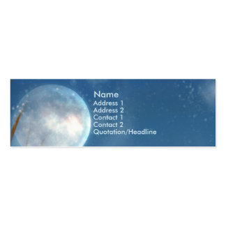 KRW Blue Moon Fantasy Profile Card Business Card Template
