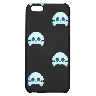 KRW Blue Skull and Crossbones i Cover For iPhone 5C
