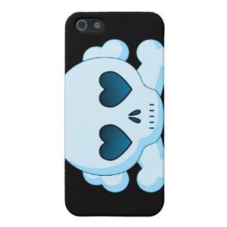 KRW Blue Skull and Crossbones i iPhone SE/5/5s Case