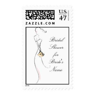 KRW Blushing Bride Bridal Shower Stamp