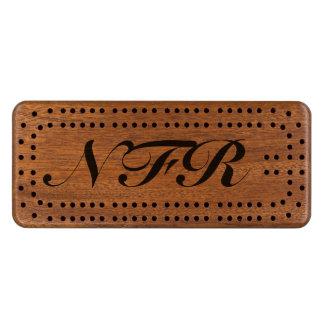 KRW Bold Custom Monogram Cribbage Board Wood Cribbage Board