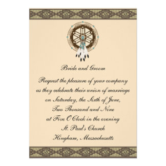 KRW Border Dreamcatcher Custom Wedding Invitation