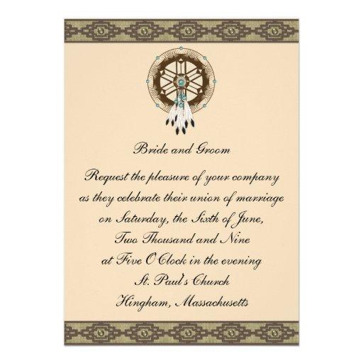 KRW Border Dreamcatcher Custom Wedding Invitation 5 X 7