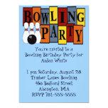 "KRW Bowling Birthday Party 5"" X 7"" Invitation Card"
