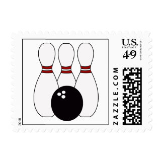 KRW Bowling Pins and Bowling Ball Stamp