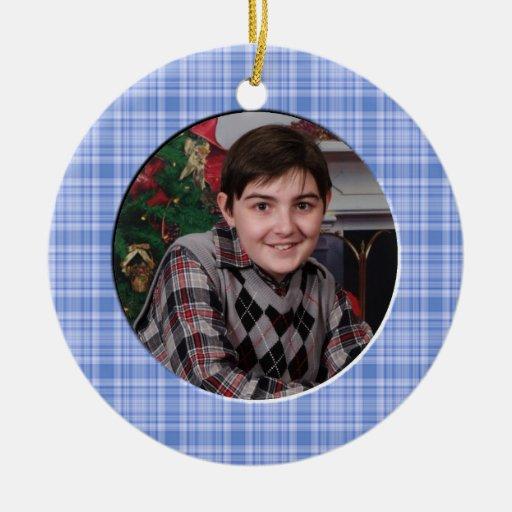 KRW Boy's Custom Christmas Photo Ornament