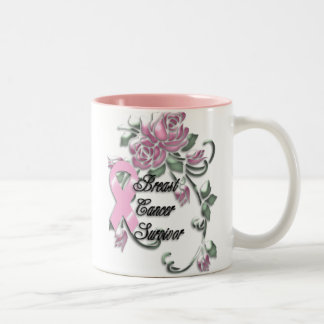 KRW Breast Cancer Survivor Two-Tone Coffee Mug