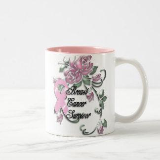 KRW Breast Cancer Survivor Two-Tone Coffee Mug