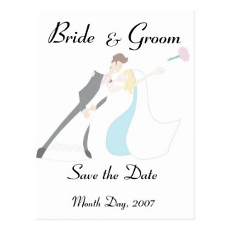KRW Bride & Groom Save the Date Custom Postcard