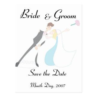 KRW Bride & Groom Save the Date Custom Postcard
