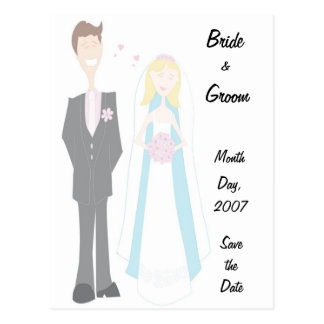 KRW Bride Groom Save the Date Custom Postcard