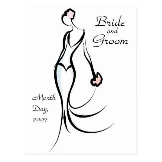 KRW Bride Save the Date Custom Postcard