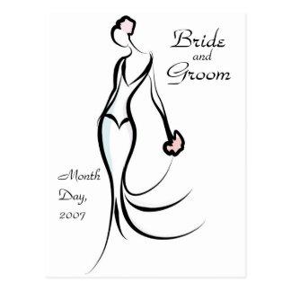 KRW Bride Save the Date Custom Postcard