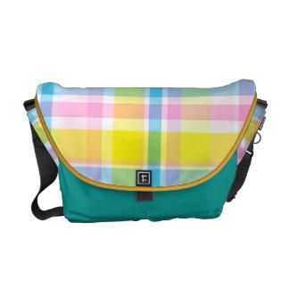 KRW Bright Summer Plaid Messenger Bag