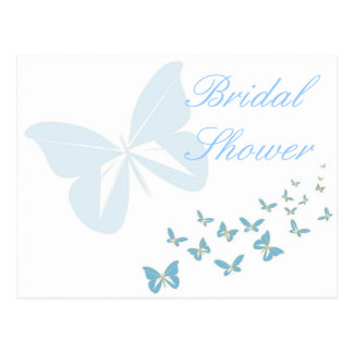 KRW Butterfly Custom Shower Invitation Postcard