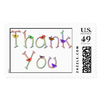 KRW Butterfly Thank You Stamp