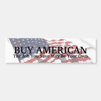 KRW Buy American Save a Job Bumper Sticker Car Bumper Sticker