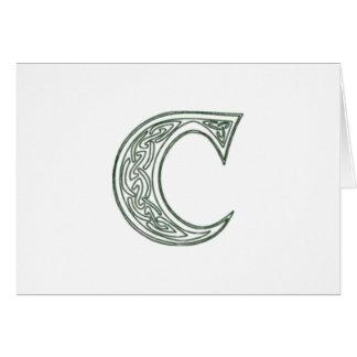 KRW - C - Celtic Monogram Card - Blank