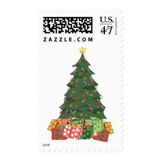 KRW Candy Cane Christmas Tree Postage