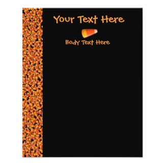 KRW Candy Corn Black Small Flyer Template