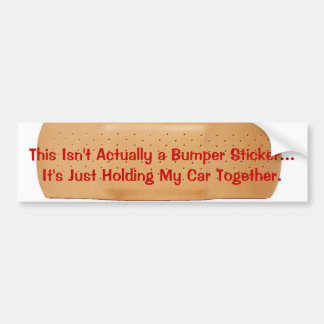 KRW Car Bandage Bumper Sticker