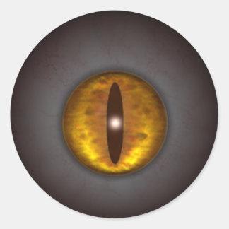 KRW Cat's Eye Creepy Halloween Classic Round Sticker