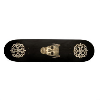 KRW Celtic Skull Skate Board