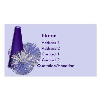 KRW Cheerleading Blue Custom Business Card