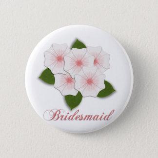 KRW Cherry Blossom Bridesmaid Pinback Button