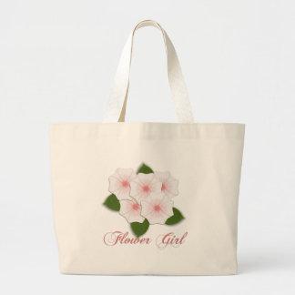 KRW Cherry Blossoms Flower Girl Large Tote Bag