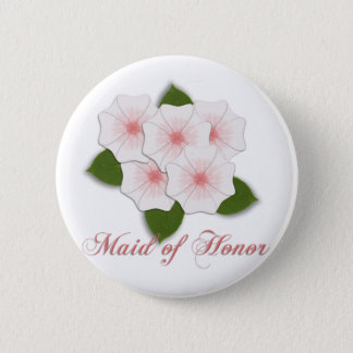 KRW Cherry Blossoms Maid of Honor Pinback Button