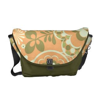 KRW Chic Coral Floral Messenger Bag