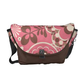 KRW Chic Pink Floral Messenger Bag