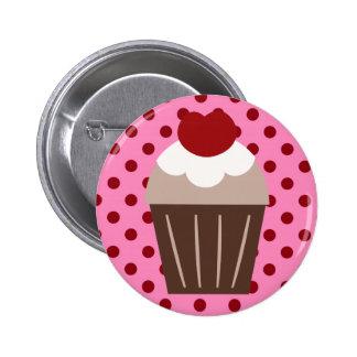 KRW Chocolate Cherry Cupcake Button