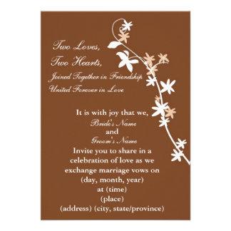 KRW Chocolate Custom Wedding Invitation