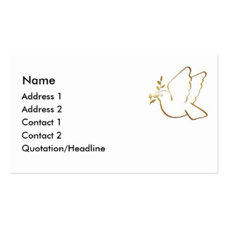 KRW Christian Dove Custom Business Card