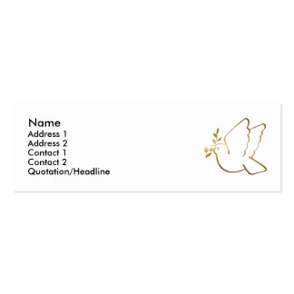 KRW Christian Dove Custom Profile Card Double-Sided Mini Business Cards (Pack Of 20)