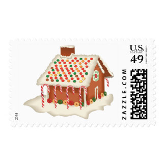 KRW Christmas Gingerbread House Postage Stamps