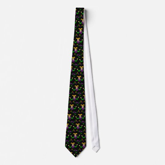 KRW Colorful Mardi Gras Jester Neck Tie