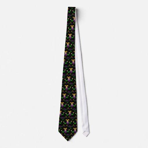 KRW Colorful Mardi Gras Jester Tie