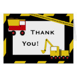 KRW Construction Trucks Thank You Notes