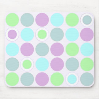 KRW Cool Blue Green and Purple Spots Mouse Pad
