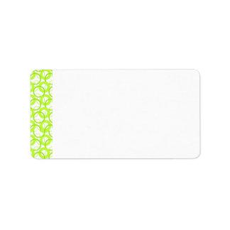 KRW Cool Lime Circle Blank Address Label