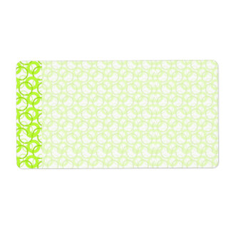 KRW Cool Lime Circle Blank Shipping Label
