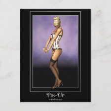 KRW Coquette Blonde Pin Up postcard